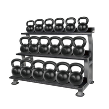 Hot Sale 3 Layers Kettlebell Rack KBRT102B -Vigor