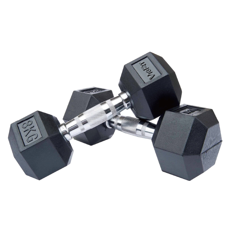 High Quality Hex Rubber Dumbbell DB-R-301 -Vigor