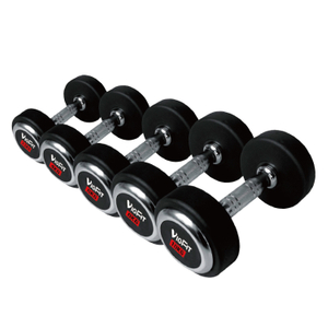China Top Fitness Center Rubber Dumbbell with Chromed Cap Vigor - DB-R-302
